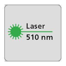 Długość fali lasera 510nm, laser zielony