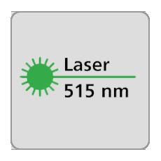 Długość fali lasera 515nm, laser zielony