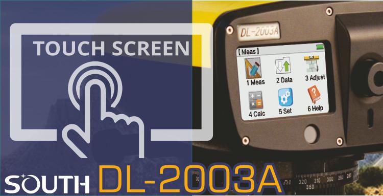Niwelator kodowy, niwelator cyfrowy SOUTH DL-2003A touch screen