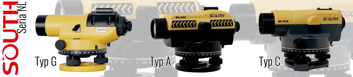 SOUTH niwelatory optyczne NLA, NLG, NLC
