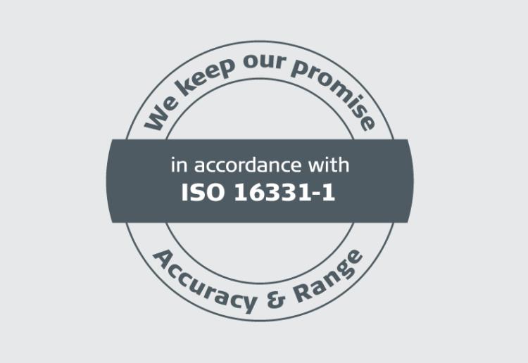 Dokładność i zasięg potwierdzona certyfikatem jakości ISO - Dalmierze Leica DISTO™