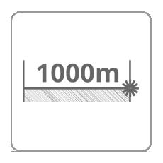 Zasięg dalmierza 1000m