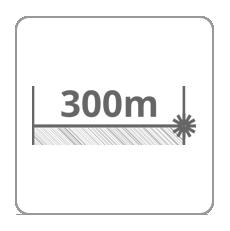 Zasięg dalmierza 300m