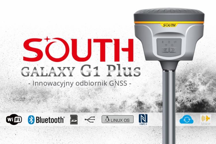 Odbiornik GPS GNSS RTK South Galaxy G1 PLUS BD 990 8mm+1ppm WiFi Bluetooth