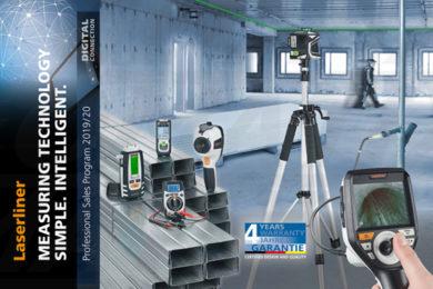 Laserliner Professional Sales Program 2019/2020 - urządzenia pomiarowe i narzędzia inspekcyjne Laserliner do zastosowań profesjonalnych: w budownictwie i przemyśle