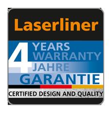 4 lata gwarancji Laserliner