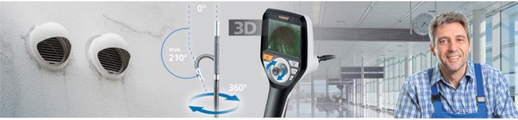 Endoskop video Laserliner VideoInspector 3D 1m kamera 6mm - sterowanie kamerą