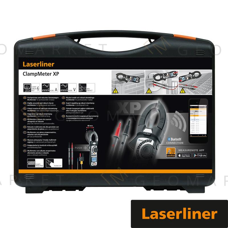 Multimetr cęgowy Laserliner ClampMeter XP Bluetooth termopara latarka