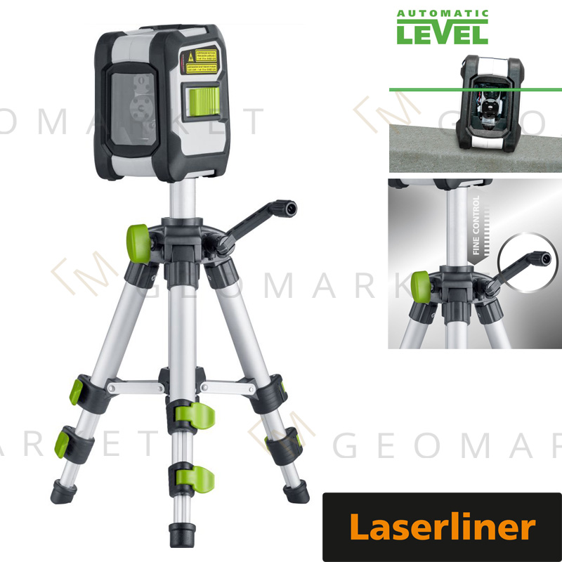 Laser liniowo-krzyżowy Laserliner CompactCross-Laser Pro Bluetooth + statyw