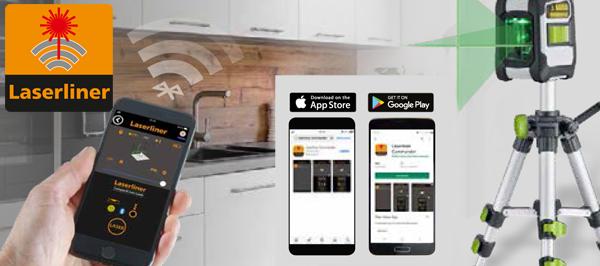 Aplikacja Commander Laserliner dla systemu Android i iOS