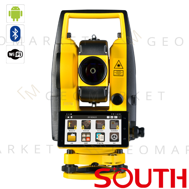 """Tachimetr bezlustrowy South A1 2"""" 2mm+2ppm 1000m Android WiFi Bluetooth TouchScreen"""