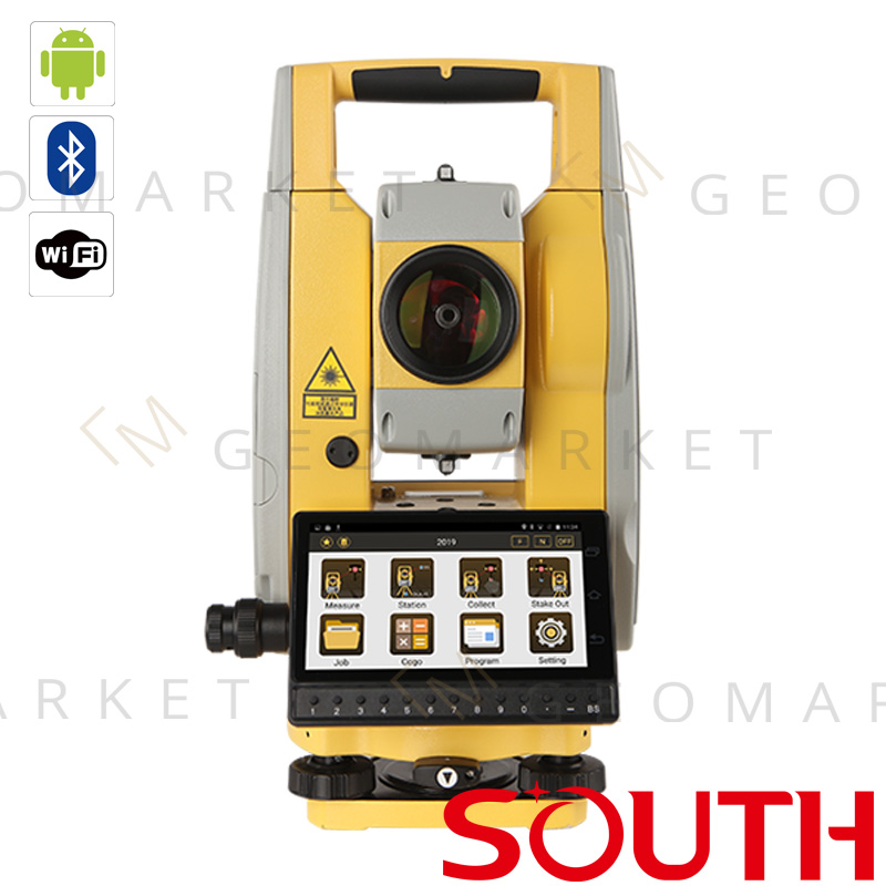 """Tachimetr bezlustrowy South N1 2"""" 2mm+2ppm 2000m Android WiFi Bluetooth TouchScreen"""
