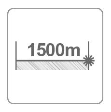 Zasięg dalmierza 1500m