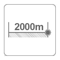 Zasięg dalmierza 2000m