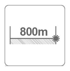 Zasięg dalmierza 800m