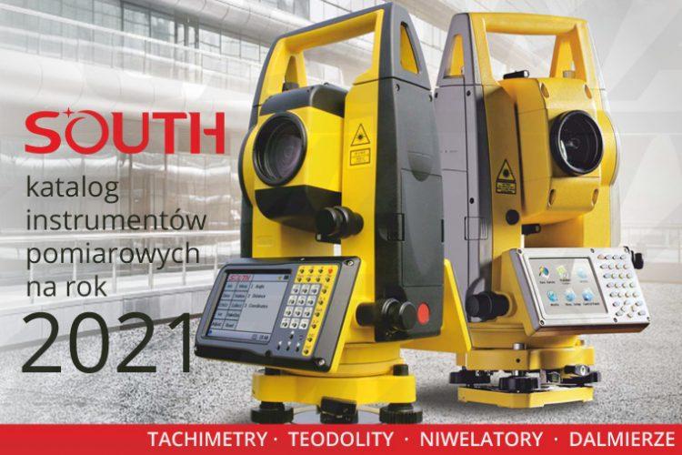 Geodezyjne Instrumenty Pomiarowe South Katalog 2021 - tachimetry, teodolity, niwelatory, dalmierze
